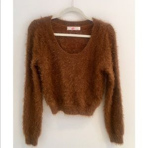 Fuzzy Brown American Apparel Sweater